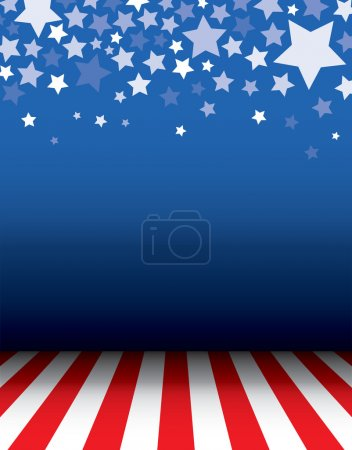 Empty background with stars decorative and floor