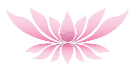 Illustration of the lotus flower