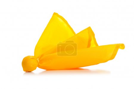 Yellow penalty flag on a white background