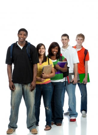 Photo for Multicultural College students, male and female - Royalty Free Image