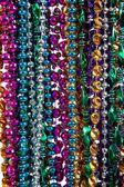 Background of mardi gras beads