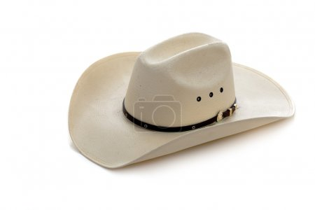 Photo for A white cowboy hat on a white background - Royalty Free Image