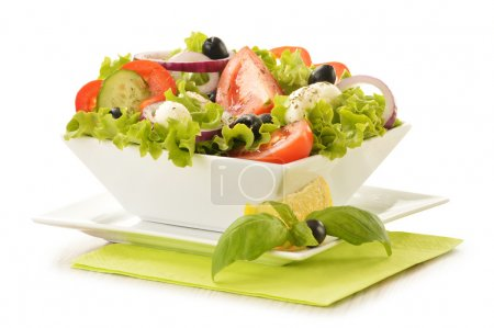 Photo for Composition with vegetable salad bowl - Royalty Free Image