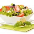 Composition with vegetable salad bowl...