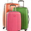 Luggage consisting of large polycarbonate suitcase...