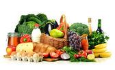 """Постер, картина, фотообои """"продукты питания, включая овощи, фрукты, молочные продукты и напитки"""""""