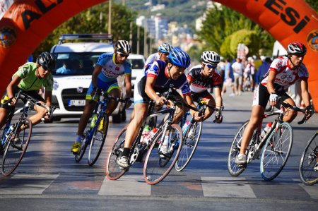 Road bicycle racing in Alanya, Turkey