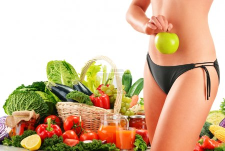 Photo for Dieting. Balanced diet based on raw organic vegetables - Royalty Free Image