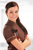 Profesionální kosmetička držení stopy