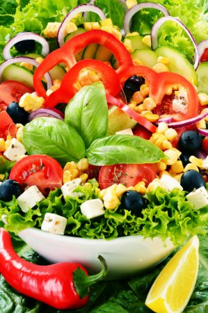 Photo for Vegetable salad bowl. Balanced diet - Royalty Free Image