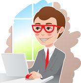 Man at the laptop