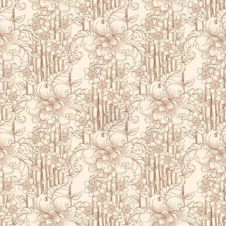 fleurs beiges
