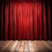 """Постер, картина, фотообои """"Красная ткань занавес на сцене"""""""