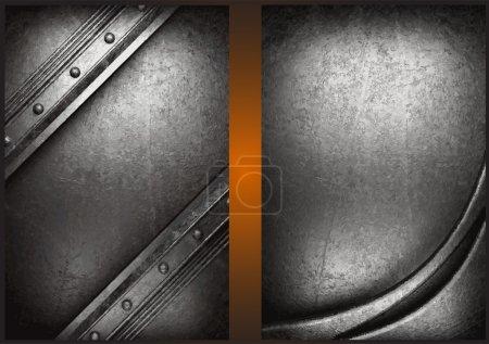 Illustration for Vector metal background set - Royalty Free Image