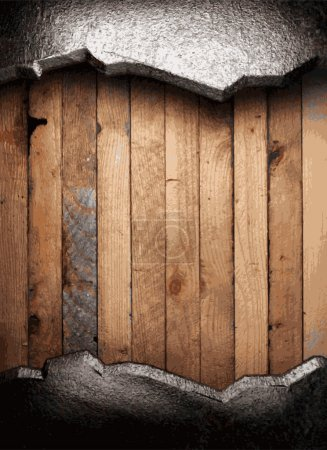 Illustration for Metal and wood background - Royalty Free Image