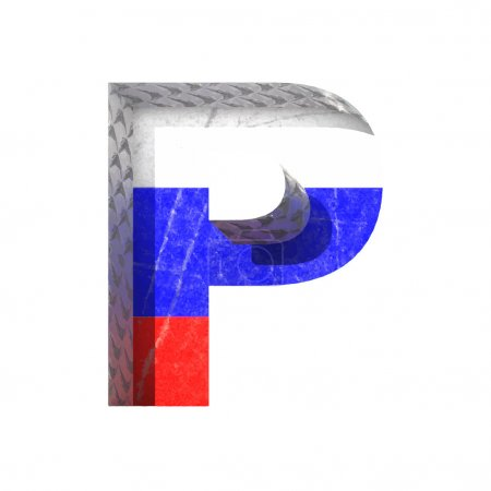 Vector Russian cutted figure p. Paste to any background