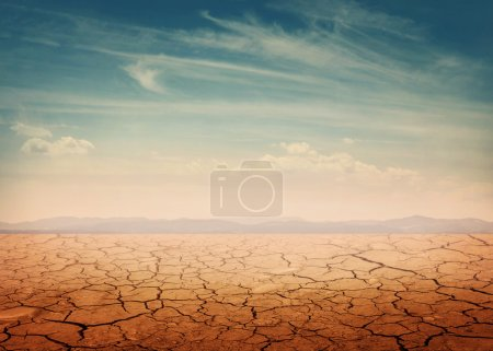 Desert landscape background global warming concept...