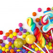Mixed colorful sweets close up...