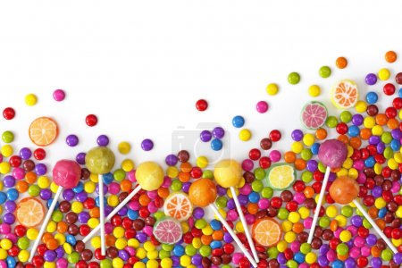 Photo for Mixed colorful sweets close up - Royalty Free Image