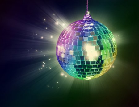 Photo for Disco ball on black background - Royalty Free Image
