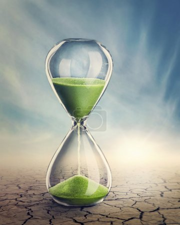 Time concept with a hourglass...