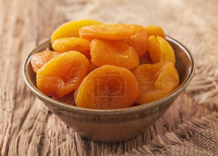 Photo for Dried apricots in a bowl - Royalty Free Image