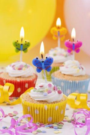Butterflies birthday candles