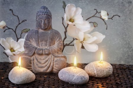 Photo for Buddha in meditation, religious concept - Royalty Free Image