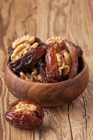 Dried dates with walnut