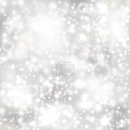 Illustration pour Fond argenté avec étoiles et lumières scintillantes. PSE10 - image libre de droit
