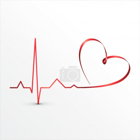 Illustration for Heart beats cardiogram icon. Medical background - Royalty Free Image