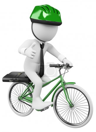 3D white business . Bike to Work
