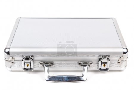 Photo for The aluminum carrying case. Microstock photography for over a white background - Royalty Free Image