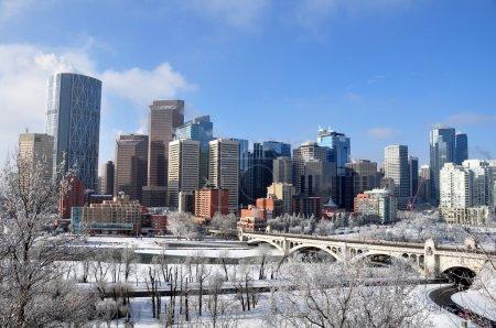 Photo pour Des gratte-ciels surplombent Calgary Alberta Canada . - image libre de droit