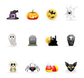 Halloween icon series in colors EPS 10 AI PDF & transparent PNG of each icon included