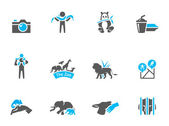 Zoo icons in duo tone colors