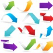 Vector arrows in 6 different colors. EPS 10 with t...