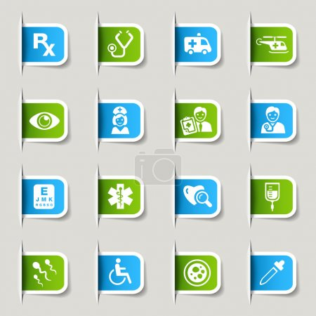 """Photo for 16 """"medical and healthcare"""" icons set - Royalty Free Image"""
