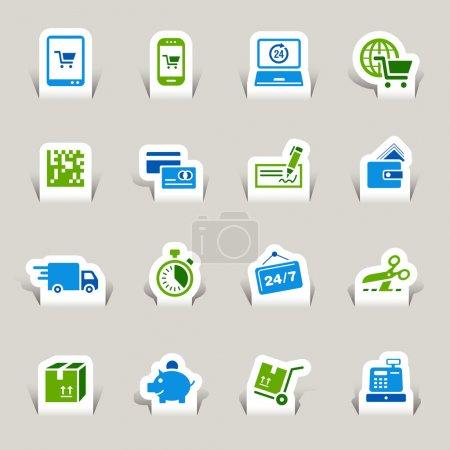 Papercut - Shopping icons