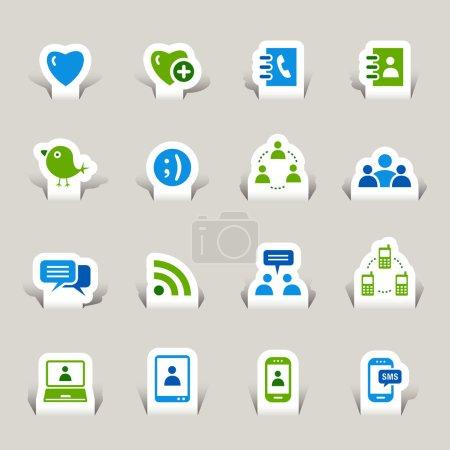 Papercut - Social media icons