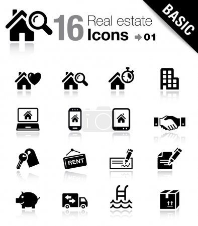 """Photo for 16 """"real estate"""" icons set - Royalty Free Image"""