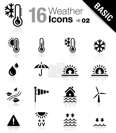 "Photo for 16 ""weather and meteorology"" icons set - Royalty Free Image"