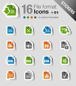 Samolepky - ikony formátu souboru