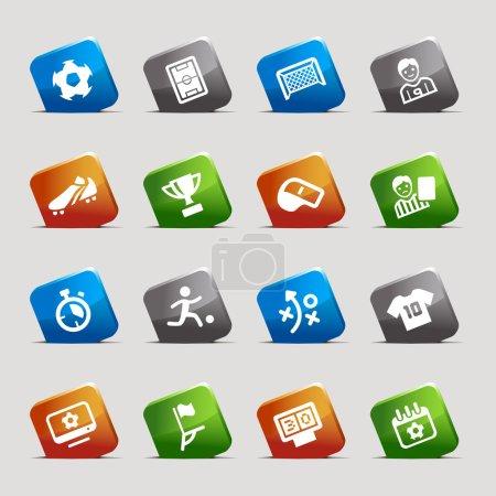 Cut Squares - Soccer Web Icons