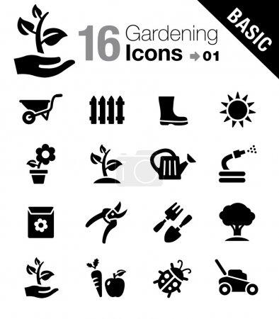 """Photo pour 16 icônes """"Jardinage"""" ensemble - image libre de droit"""