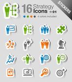 Samolepky - obchodní strategie a řízení ikony