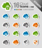 Samolepky - cloud computingu ikony