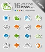 Samolepky - ikony počasí a meteorologie