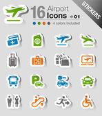 Samolepky - letiště a cestovní ikonami