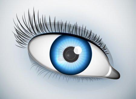Photo pour Illustration de l'œil. Vue macro - image libre de droit